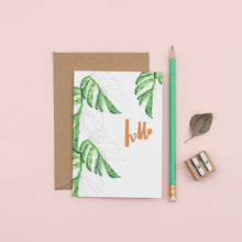 Load image into Gallery viewer, hello-botanical-greetings-card