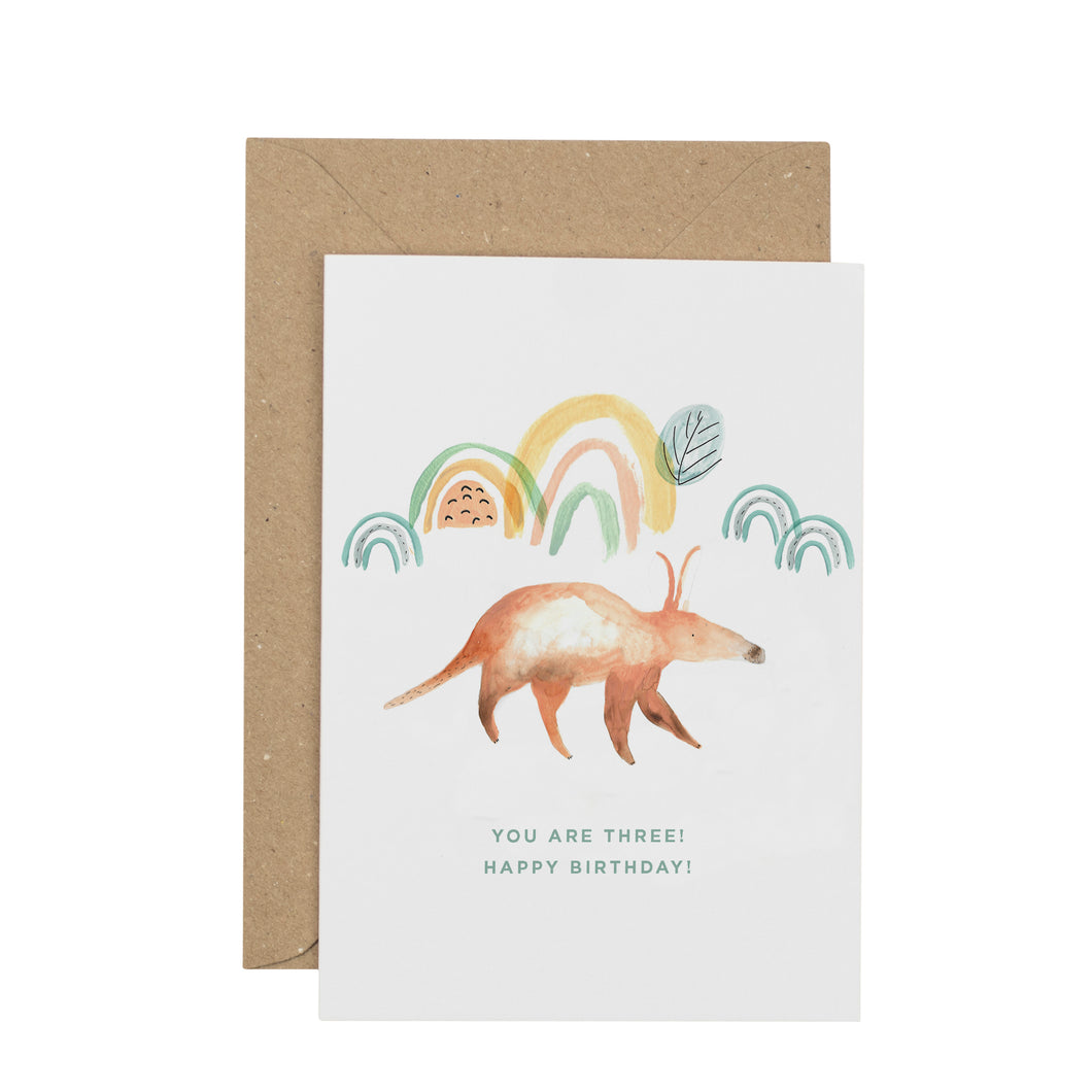 aardvark-third-birthday-card