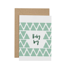 Load image into Gallery viewer, geometric-baby-boy-greetings-card