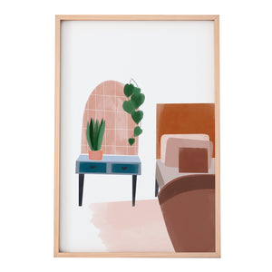 colourful bedroom print