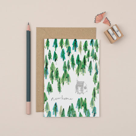 cabin-new-home-greetings-card