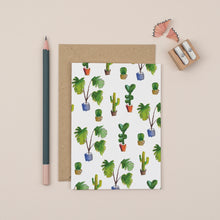 Load image into Gallery viewer, cactus-print-greetings-card