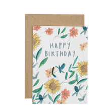 Load image into Gallery viewer, sunflower-birthday-card