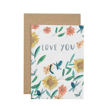 Load image into Gallery viewer, sunflower-love-you-greetings-card