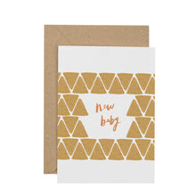 Load image into Gallery viewer, geometric-new-baby-card