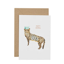 Load image into Gallery viewer, party-animal-cheetah-card