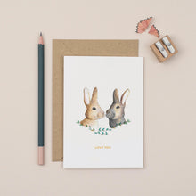 Load image into Gallery viewer, love-you-bunny-greetings-card