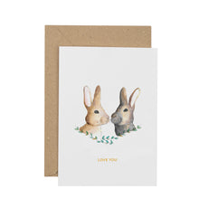 Load image into Gallery viewer, cute-bunny-rabbit-greetings-card