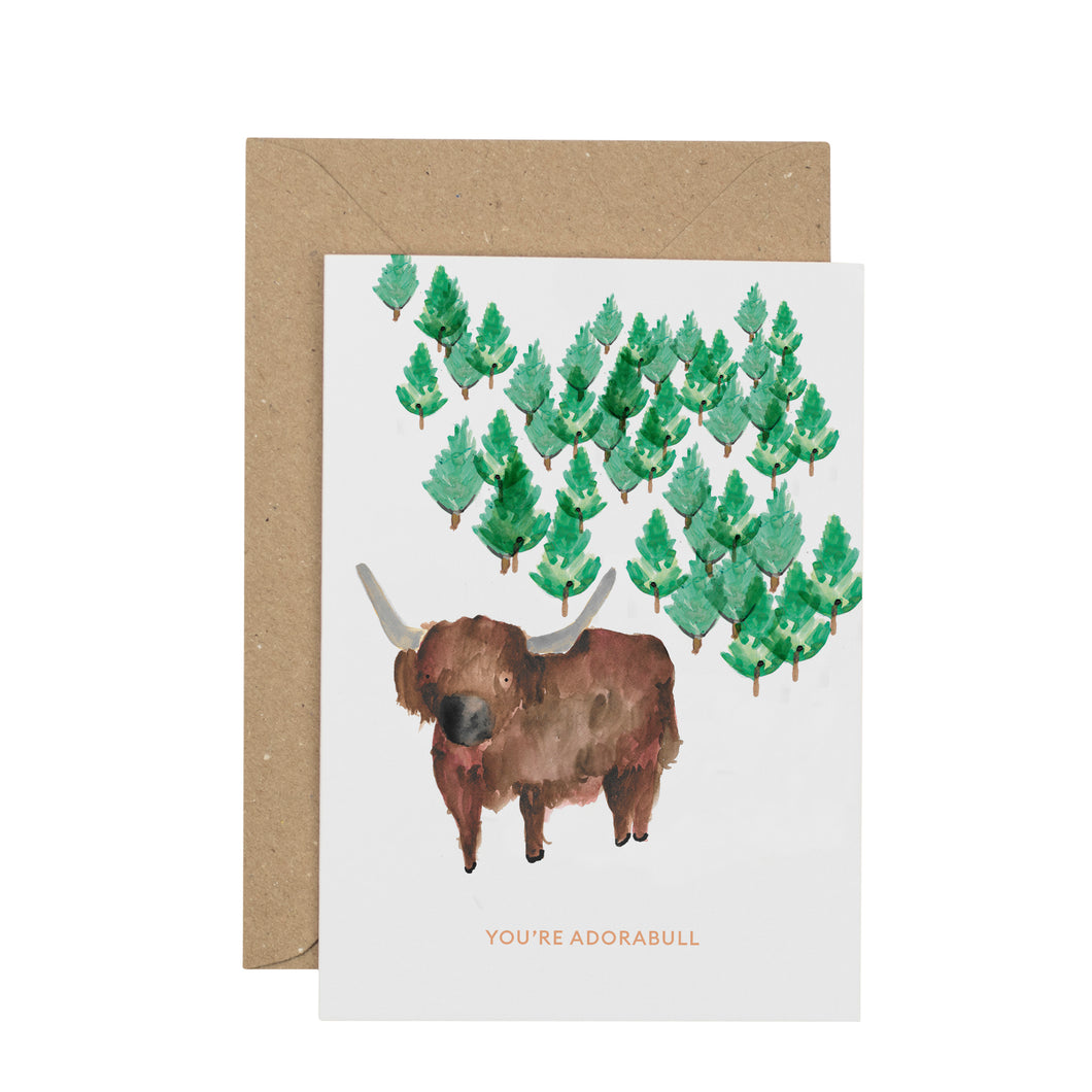 luxury-bull-greetings-card