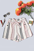 Neapolitan Striped Linen Shorts