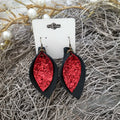 Double Layer Glitter Tear Drop Earring