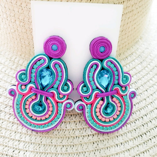 Mimi's Lavender Lush Earrings