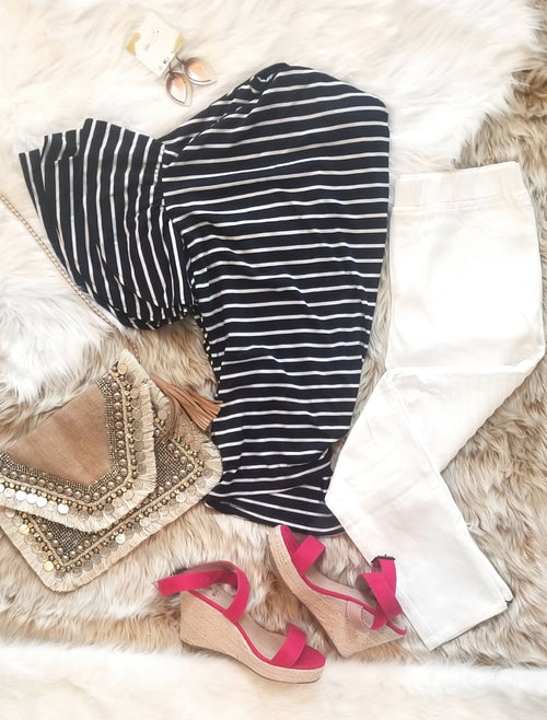 Nautical in the Navy Top