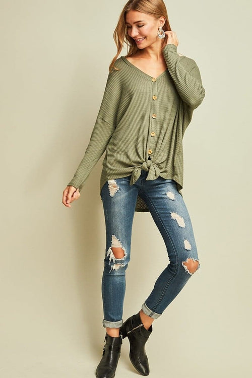Olive Multi-Wear Henley