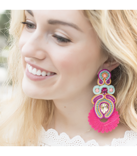 Pink Katy Lilly Drop Earrings