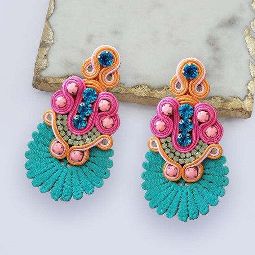 Oceania Teal Drop Earrings