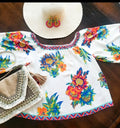 Tropical On or Off Shoulder Boho Top