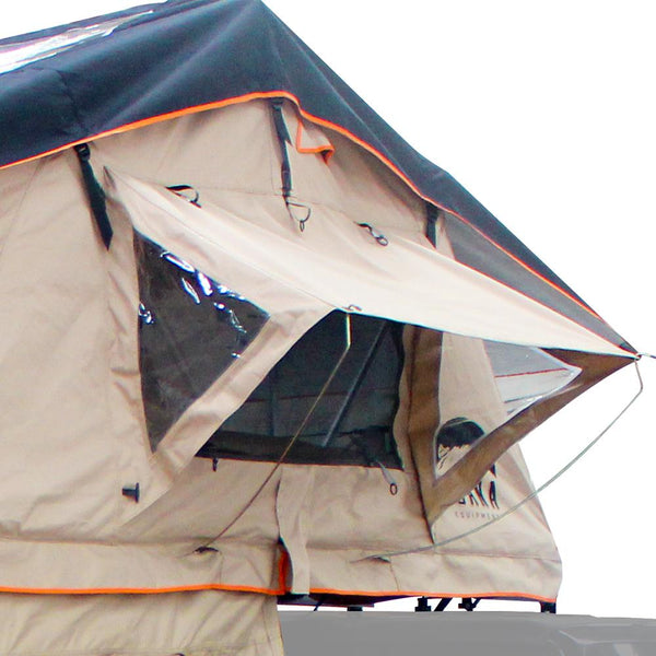 "Special Windows of the Wanaka 72"" Roof Top Tent With XL Annex - 4 Person Size"