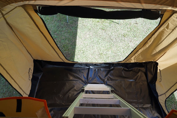 "Wanaka 72"" Roof Top Tent With XL Annex 4 Person Size Ladder"