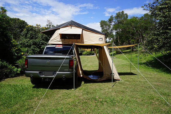 best authentic 5f853 78e40 Wanaka 3 Person Roof Top Tent Setup With Annex