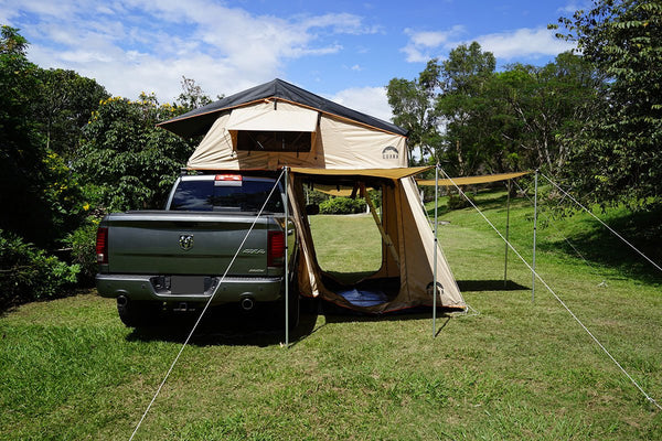 "Wanaka 72"" Roof Top Tent 4 Person Size Back View"