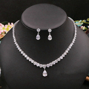 Layla Retro Water Drop Cubic Zirconia Jewelry Set