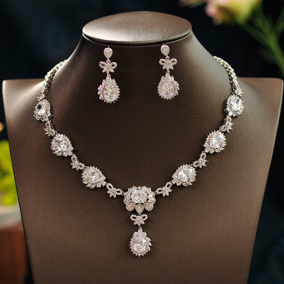 Alexa Grand Floral Crystal Jewelry Set