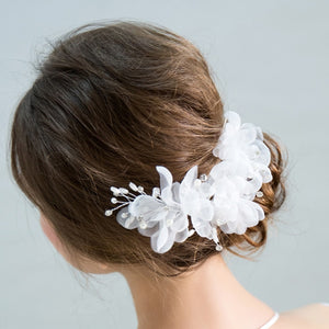 Lara Handmade Flower with Pearls Headpiece