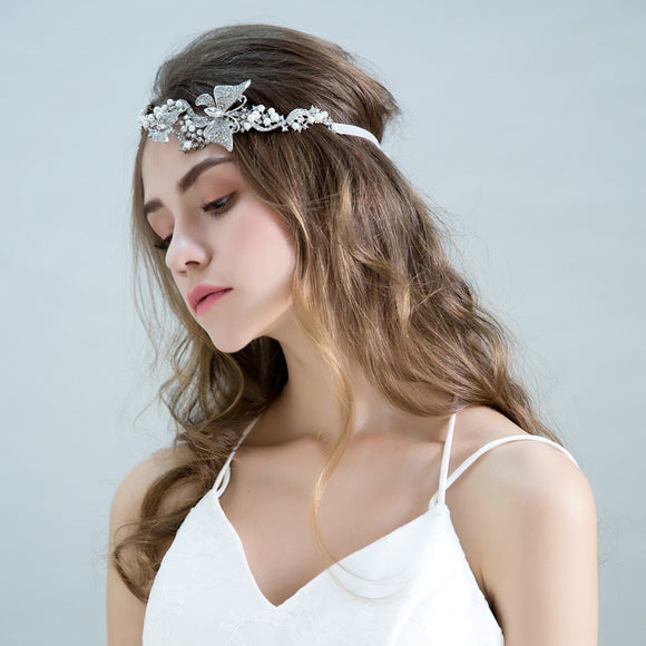 Isabella Fashion Crystal Butterfly Hairband