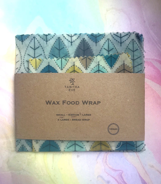 Wax Food Wraps - Vegan Set of 2 (Small and Medium)