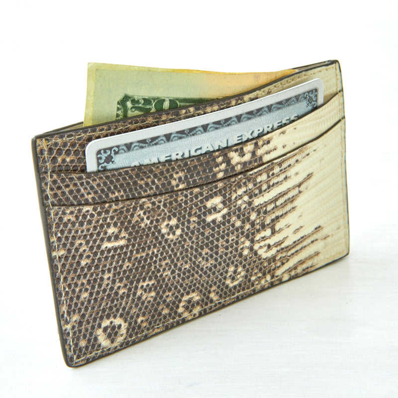 Credit Card Case - Natural Lizard