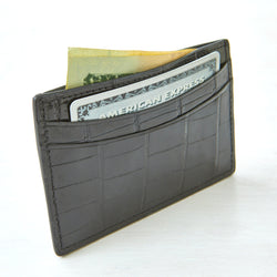 Credit Card Case - Black Crocodile