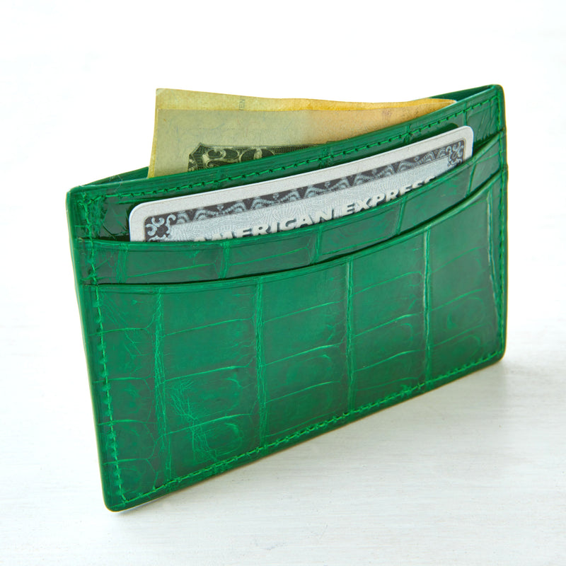 Credit Card Case - Palm Crocodile