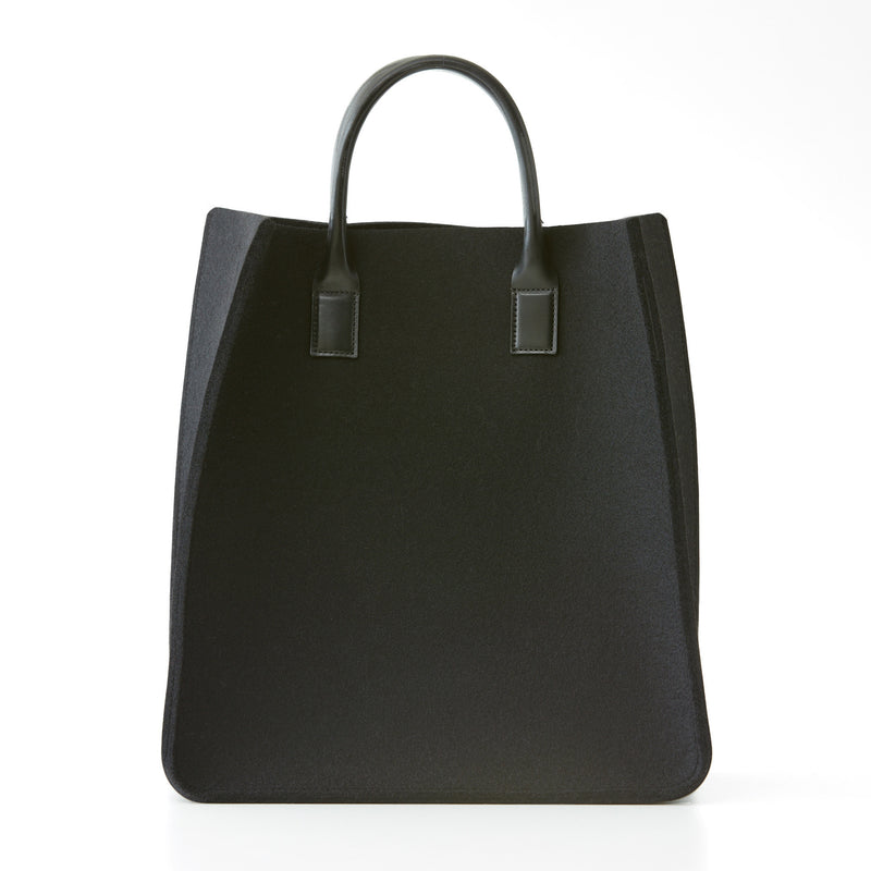 City Tote - Black Felt