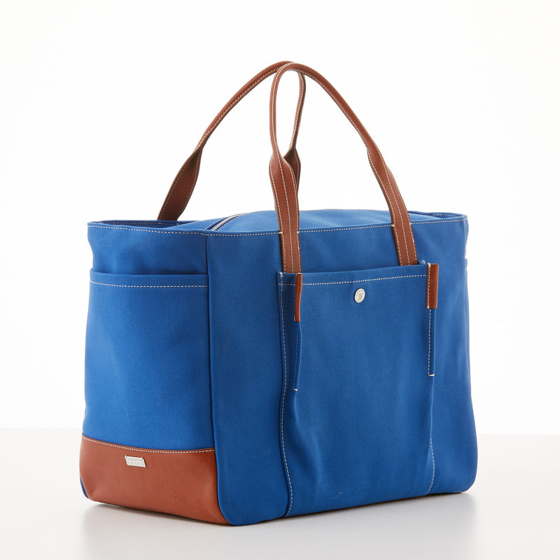 Bradley Zip Tote - Sky Blue Canvas