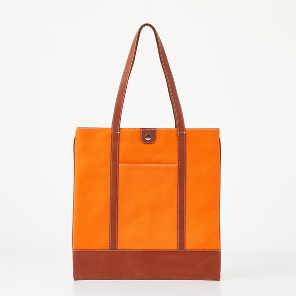 Taylor Tote - Tangerine Canvas