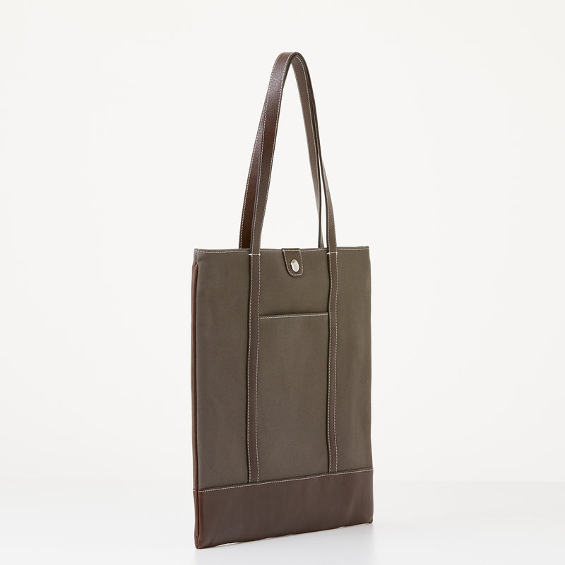 Taylor Tote - Brown Canvas