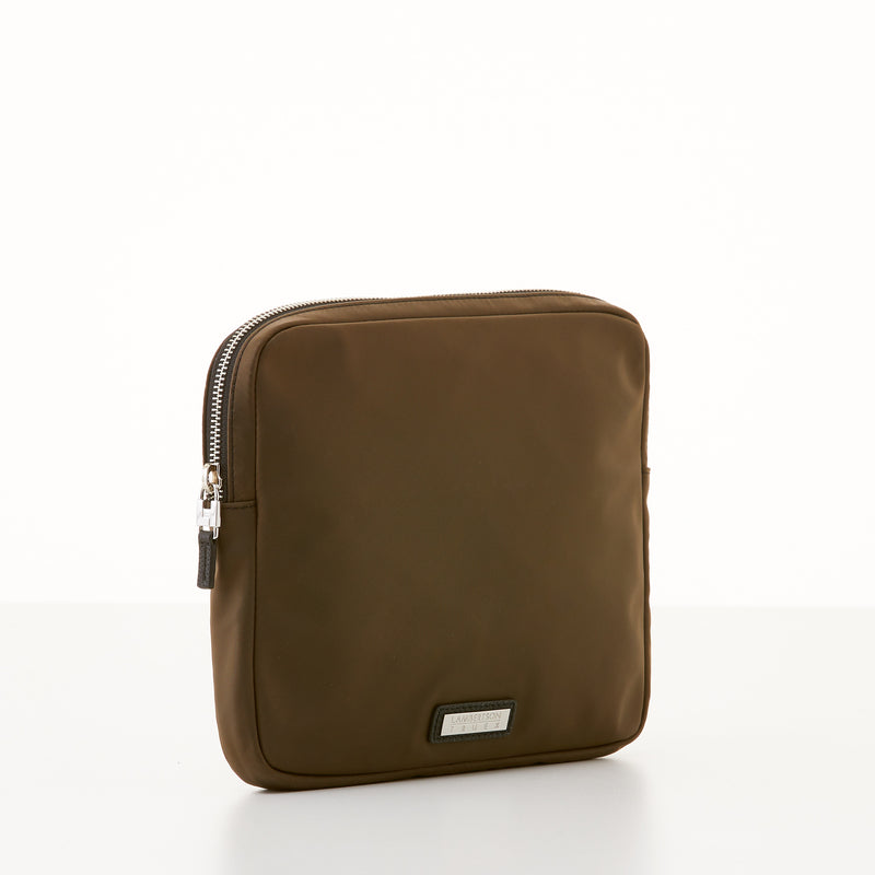 Organizer Clutch - Brown Nylon Sport