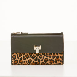Soft Continental Wallet - Leopard Print