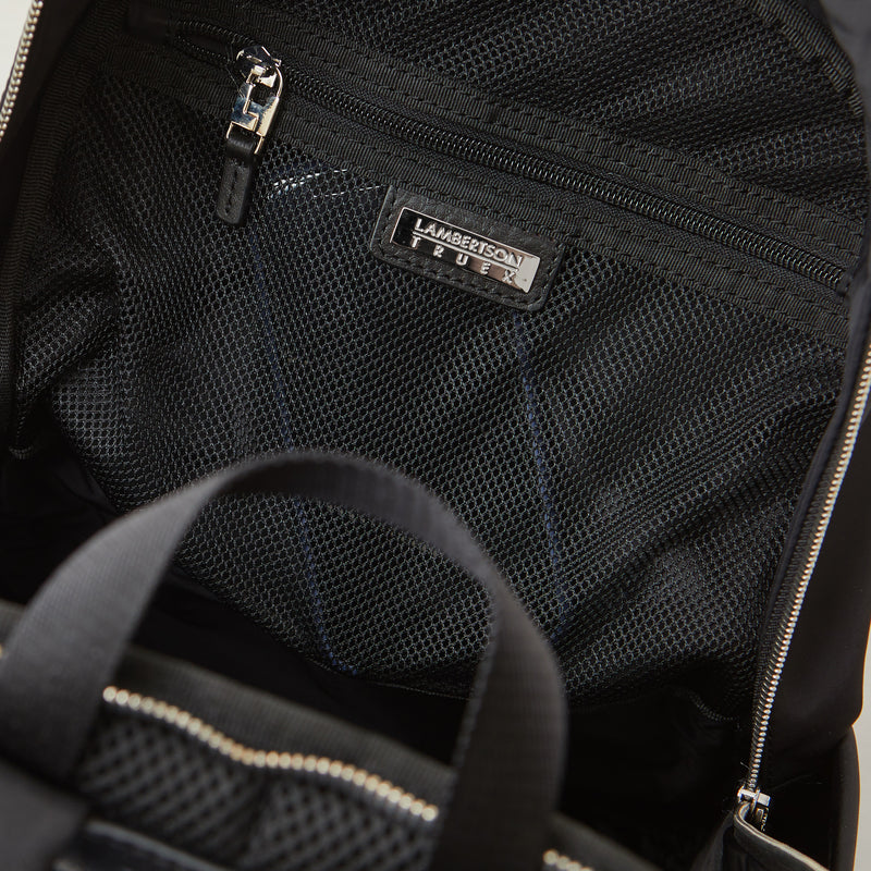 Perry Slim Backpack - Black Nylon