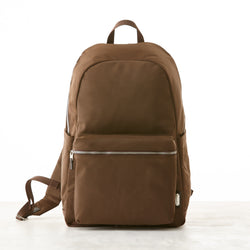 Perry Slim Backpack - Brown - Nylon
