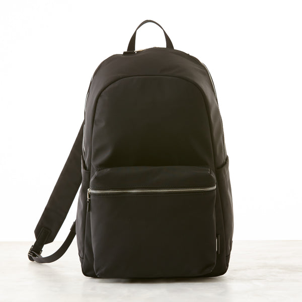 Perry Slim Nylon Backpack - Black