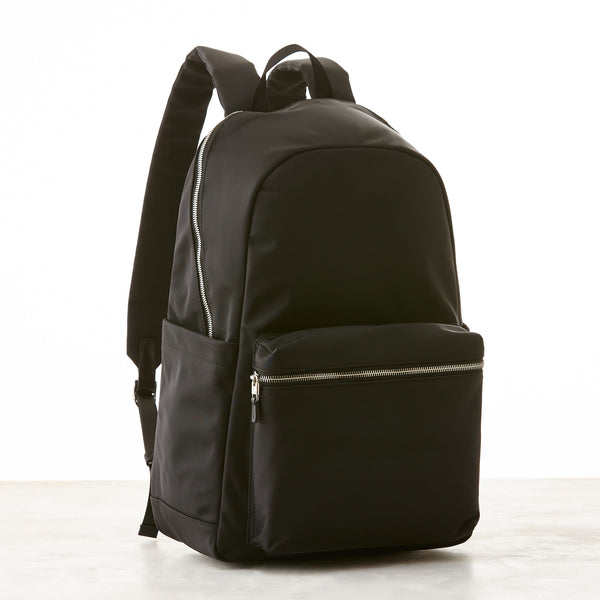 Perry Slim Backpack - Black - Nylon