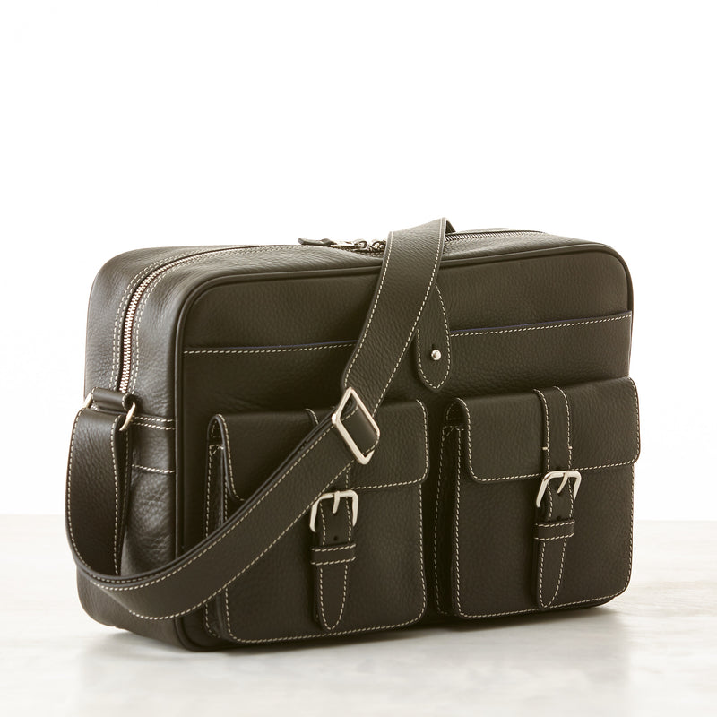 Hudson Camera Bag - Brown Pebble Grain