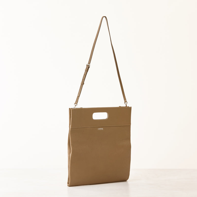 Maggie Clutch/Crossbody - Large - Taupe