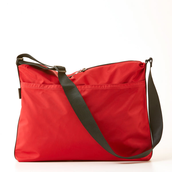 Walker Nylon Messenger - Red