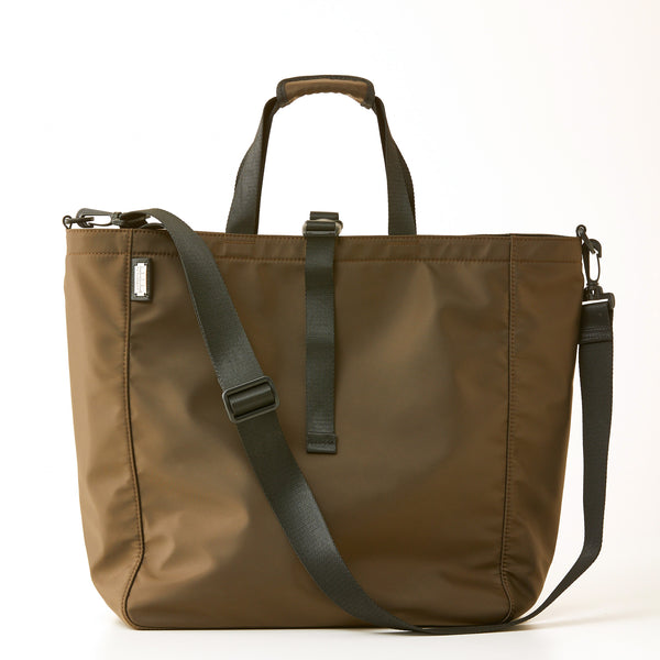 Harrison Nylon Tote - Large - Brown