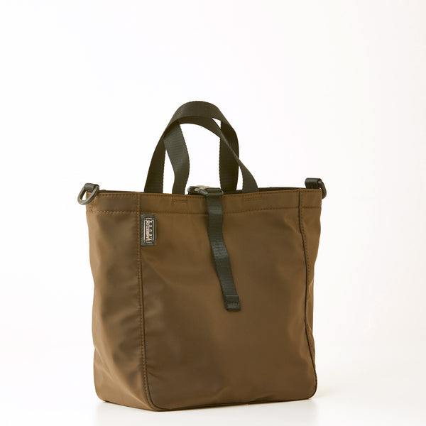 Harrison Nylon Tote - Medium - Brown