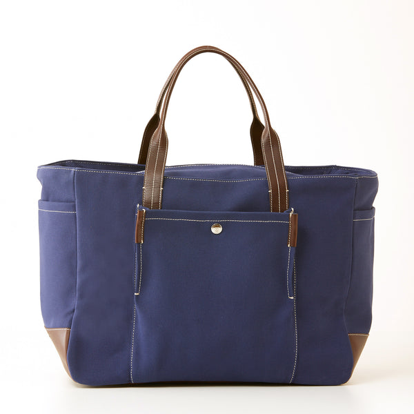 Bradley Zip Tote - Navy Canvas