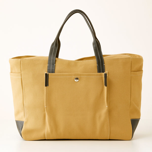 Bradley Zip Tote - Khaki Canvas